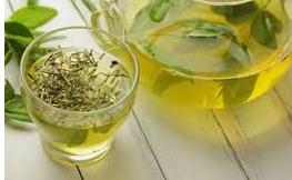 Dengan teh hijau